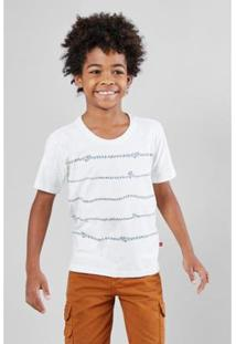 Camiseta Mini Sm Lagosta Reserva Masculina - Masculino-Off White