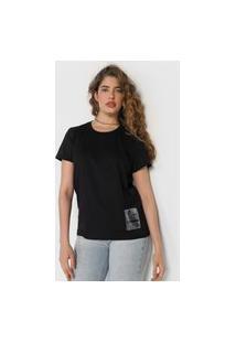 Camiseta Colcci Tag Preta
