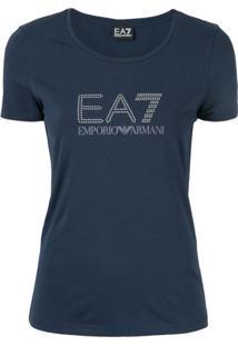 Ea7 Emporio Armani Camiseta Com Logo - Azul