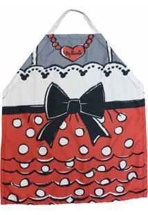 Avental Laço Da Minnie Em Canvas 75 X 60 Cm