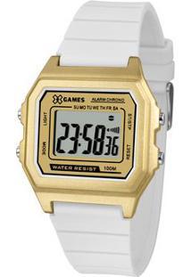 Relógio Digital Quartz Xlppd032Bxbx- Dourado & Branco