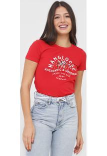 Camiseta Hang Loose Company Vermelha - Vermelho - Feminino - Dafiti