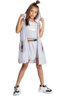 Vestido Cinza Menina