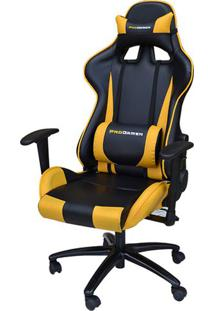 Cadeira Office Pro Gamer V2 Em Pu Preta E Amarela - 36690 - Sun House