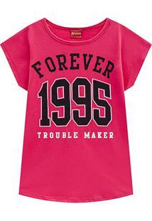 Blusa Infantil Amora Forever 1995 Feminina - Feminino-Rosa