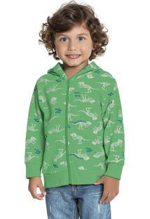Jaqueta Estampada Dino Verde