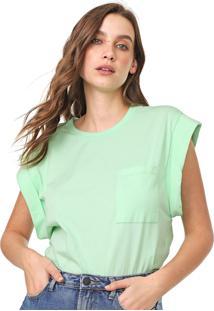 Camiseta Colcci Bolso Verde