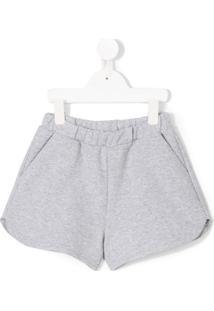 Gaelle Paris Kids Shorts De Moletom - Cinza