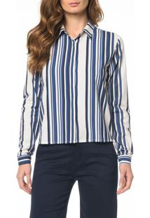 Camisa Ckj Fem Blue Stripes - 38