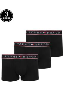 f9a2e879d0a8c0 Kit 3pçs Cueca Tommy Hilfiger Boxer Stretch Preta