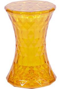 Banqueta Diamond- Amarela- 42,7Xø30Cm- Or Designor Design