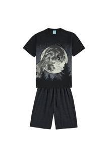 Pijama Infantil Masculino Kyly Preto