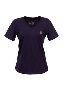 Camiseta Feminina Made In Mato Básica Marinho Multicolorido