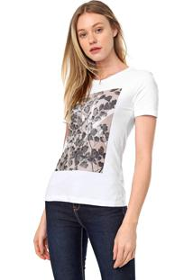 Camiseta Calvin Klein Folhas Branca