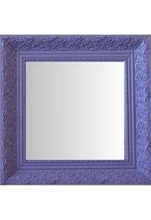 Espelho Moldura Rococó Fundo 16227 Lilás Art Shop