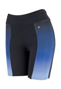 Bermuda Oxer Recorte Degradê - Feminina - Azul Escuro