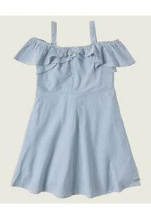 Vestido Evasê Ana Ruga Malwee Kids Azul - 4