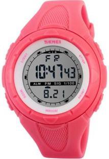 Relógio Skmei Digital Feminino - Feminino-Rosa