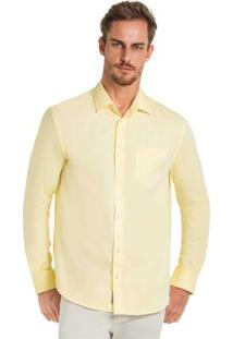 Camisa Tecido Plano Comfort Amarelo