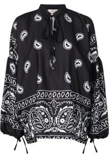Black Coral Suéter Com Estampa Paisley - Preto