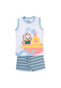 Pijama Infantil 599 Meia Malha Penteado 61.04.0005