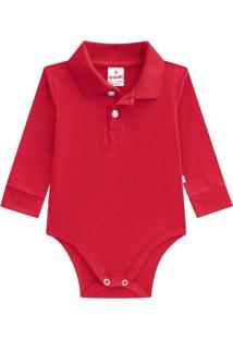 Body Básico Em Cotton Brandili Vermelho - Kanui