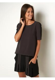 Camiseta Le Lis Blanc Marina Preto Feminina (Noir + Black, G)