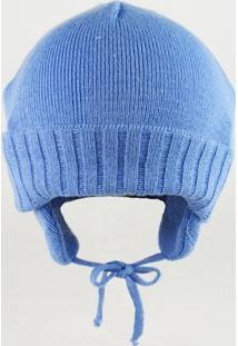 Touca Bebê Clara - Masculino-Azul