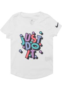 Camiseta Nike Menina Estampado Branca