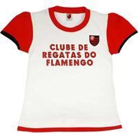 cd9b4ed808 Baby Look Texto Glitter Meia Malha Menina Flamengo Reve Dor - 6 Anos -  Feminino