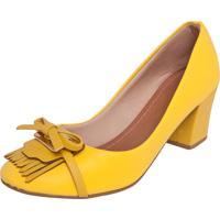 a6eccb90eb Dafiti. Scarpin Dafiti Shoes Laço Franjas Amarelo