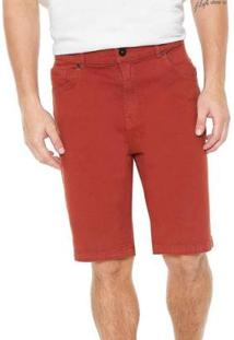 Bermuda Quiksilver Jeans Street Color Masculina - Masculino-Vermelho