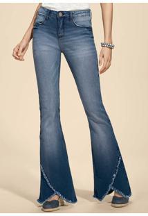 Calça Jeans Feminina Na Modelagem Flare Eco Edition 55745c35dd