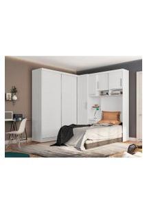 Dormitório De Solteiro Labrador Robel S/ Espelho Branco Robel Móveis