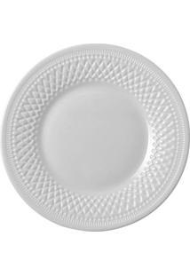 Prato Para Sobremesa Alizee Perle Luminarc Branco 22Cm - 28170