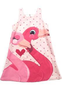 Vestido Petit Glam Par Flamingos Rosa