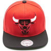 Boné Mitchell   Ness Xl Logo 2 Tone Nba Chicago Bulls Snapback Vermelho 1f59293dc35