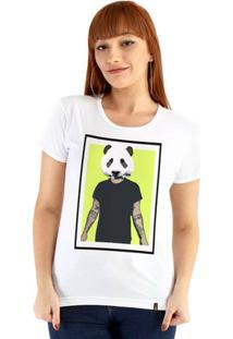 Baby Look Ouroboros Manga Curta Panda Man - Feminino