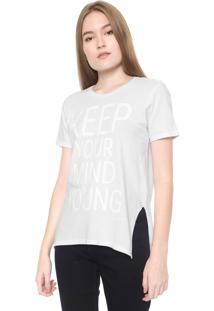 Camiseta Calvin Klein Jeans Keep Yoring Branca