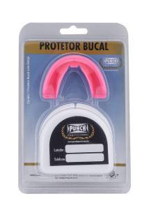 Protetor Bucal Punch Simples Profissional Com Estojo - Rosa