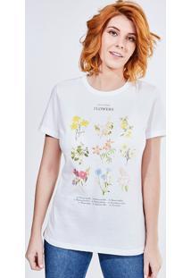 Camiseta Estampa Flores