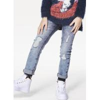 8e59dc556 Calça Jeans Infantil Menina Cintura Alta Com Fechamento Por Botões Puc [] []