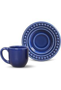 Xícara De Café Com Pires Atenas Azul