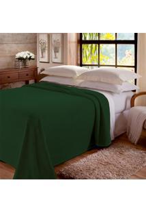Manta Casal Jolitex Dyuri Unicolor Verde Floresta Com Cinta