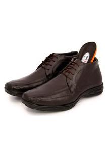 Sapato Social Br2 Footwear Masculino Couro Cano Médio Macio Café