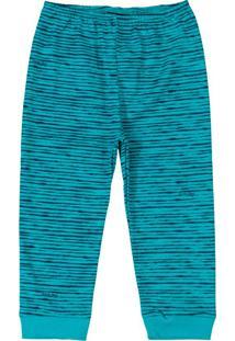 Calça Infantil Estampada Azul
