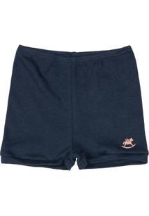 Shorts Bebê Unissex Azul