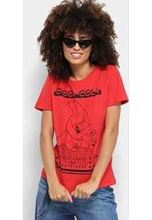 Camiseta Cola-Cola True Taste Of Happiness Feminina - Feminino-Vermelho