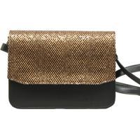 25d735c45 Bolsa La Bijorca Transversal Estruturada Preto E Dourado