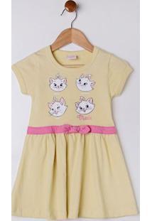 Vestido Disney Infantil Para Menina - Amarelo